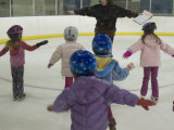 Class of Children Learn How to Skate
