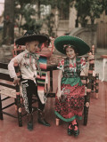 Children in Costume Reenact Colonial Mexican Life During Fiesta Week