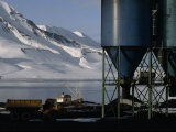 Hoppers Hold Arctic Coal Mined Near Longyearbyen