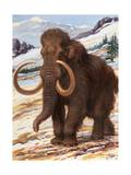Woolly Mammoth Is a Close Relative to the Modern Elephant Papier Photo par Charles Knight