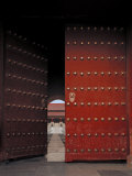 Large Doors Found at the Entry Way to the Forbidden City in China