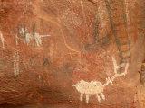 Rock Art Graces the Walls of Indian Ruins Outside Sedona  Arizona