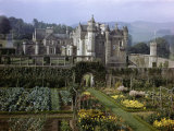 Tourists Walk in Gardens of Abbotsford House