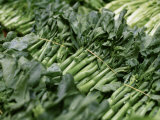 Choi Sum Is a Very Popular Green Leafy Vegetable in Asia