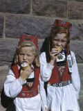 Daughters of Norwegian Immigrants Wear Traditional Clothing