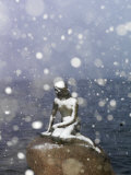 Snow Storm on the Little Mermaid Statue