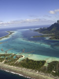 Overwater Resorts on the North Side of Bora Bora