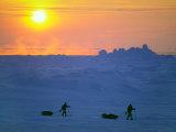 Reinhold and Hubert Messner Test Sleds Amidst Pressure Ridges