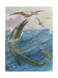 Mosasaurus Species Lived in Kansas, United States Papier Photo par Charles Knight