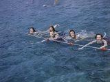 Women Swim in a Municipal Swimming Pool