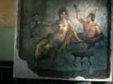 Couple Enjoy the Good Life in an Ancient Roman Fresco