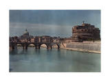 View of Rome from across the Tiber River