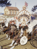 Rickshaw Pullers Dress in Very Elaborate Costumes