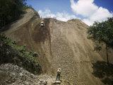 Bulldozer Works on Nicaragua-Honduras Stretch of Pan-American Highway