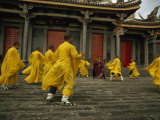 Dancers Perform Outside a Temple in Taiwan