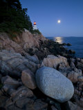 Moonlight Reflected in the Ocean Near the Bass Harbor Light House