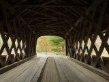 Interior of Bartonsville Covered Bridge  Fall Foliage Tour  Vermont