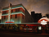 Hotel at Night in Historic Art Deco District in Miami  Florida