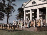 Reenactment of the Revolutionary War in Monticello