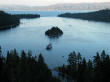 Cruise Boat for Sight-Seers Takes a Ride in Emerald Bay  Lake Tahoe