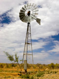 Windmill Being Blown around by the Wind in Outback Australia