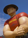 Inflatable United States Marine Soldier at a Summer Festival