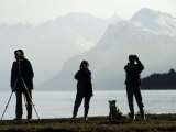Birdwatchers in Alaska Searching for Birds