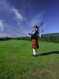 Bagpiper at a Gaelic Mod Held at Gaelic College Near Baddeck