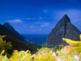 Night Falls on the Iconic Pitons of Saint Lucia