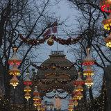 Tivoli Gardens During Christmas Season at Night