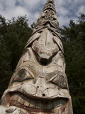 Tlingit Totem Art in Totem Park of Sitka
