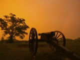 Lightning and a Cannon at the Fredericksburg Battlefield