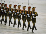 Soldiers Marching in China&#39;s National Day Parade