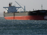 Sea-Going Tanker Anchored in Sydney Harbor