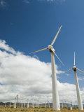 Wind Turbines Generating Energy in the Mojave Desert