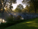 Sunrise over the Burnside Bridge over Antietam Creek