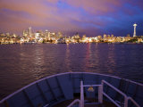 Seattle Skyline at Night from Elliot Bay