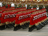 Female Soldiers Marching in China's National Day Parade