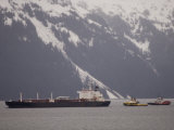 Oil Tanker and Tug Escorts in Prince William Sound  Alaska