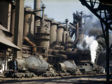 Railroad Containers Line Up to Take Molten Iron from Blast Furnaces