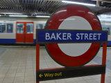 Baker Street Underground Tube Station in London  England