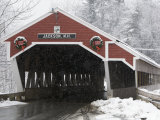 Traditional Covered Bridge on a Snowy Day in Jackson  Nh