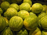 Close Up of a Pile of Watermelons