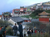 Visitors Explore the Approach to Mt Tai During the Moon Festival