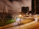 St Louis Arch Is Lit at Night  Creating a Spectacular Display