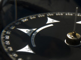 Close Up of a Compass on a Tall Ship