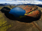 Lake in an Old Volcanic Crater or Caldera