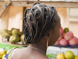 Woman Wearing a Braided Hairstyle in Ouagadougou