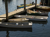 Rowboats Docked at a Pier