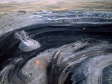 Aerial View of a Non Lignite Coal Strip Mine